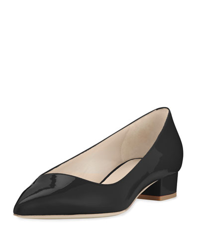 Patent Asymmetric-Collar 25mm Pump, Black