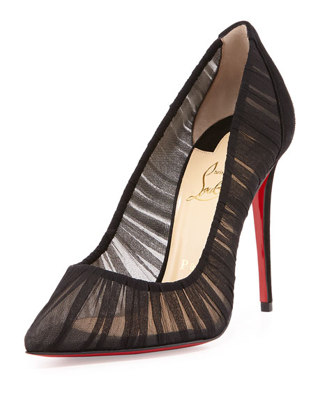 25724a198cc1 Christian Louboutin Follie Draperia Chiffon Red Sole Pump