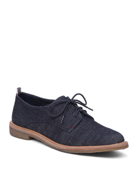 Lola Denim Lace-Up Oxford