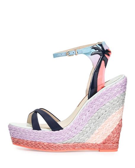 Lucita Malibu Sunrise Espadrille Wedge Sandal, Multi