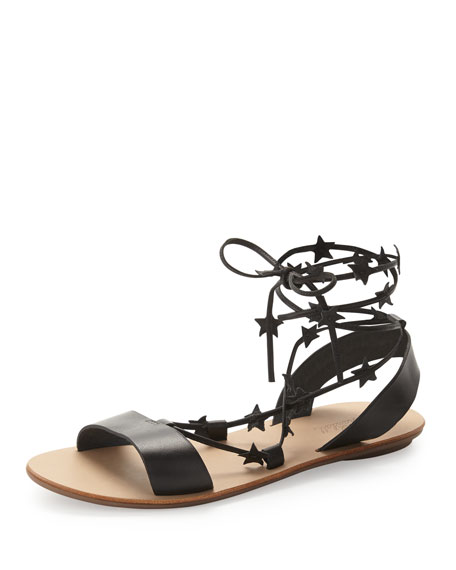 Loeffler Randall Starla Leather Gladiator Sandal, Black