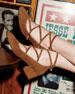 Suede Crisscross Block-Heel 45mm Pump
