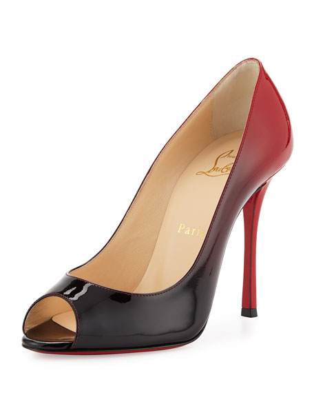 premium selection 1cd0f 2f33e Yootish Degrade Patent Red Sole Pump Black/Red