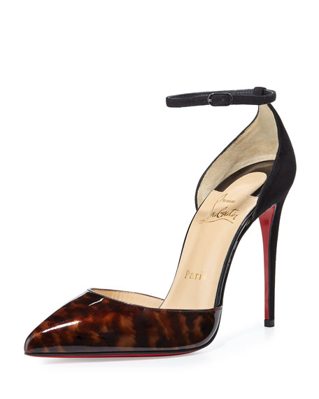 Uptown Tortoiseshell Patent Red Sole Pump