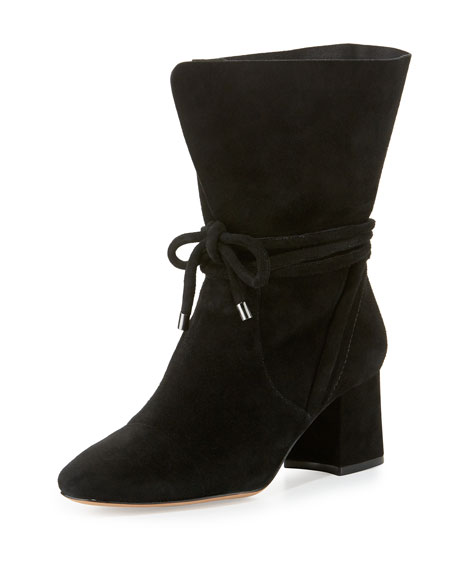 Alexandre Birman Suede 70mm Ankle-Tie Boot