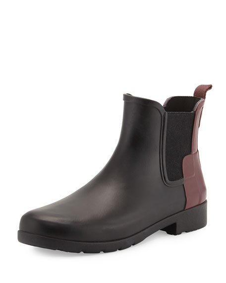 79987a796 Hunter Boot Original Refined Colorblock Chelsea Rain Boot, Black/Dulse