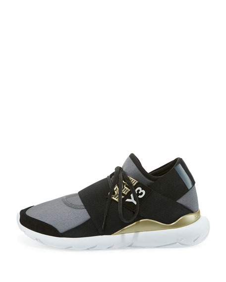Qasa Elle Trainer Sneaker, Night Metallic