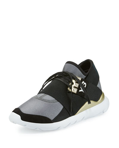Qasa Elle Trainer Sneaker, Night Metallic