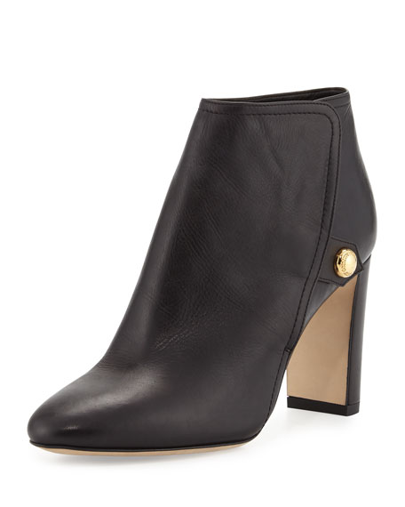 Jimmy Choo Medal Leather Ankle Boot, Black