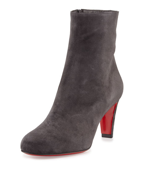 finest selection 67c99 6f364 Top 70 Suede Red Sole Ankle Boot Charcoal Gray