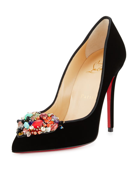 Christian Louboutin Diva Cora Velvet 100mm Red Sole