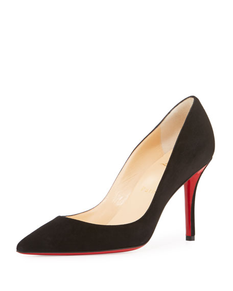 3226e00569c Apostrophy Suede 85mm Red Sole Pump Black