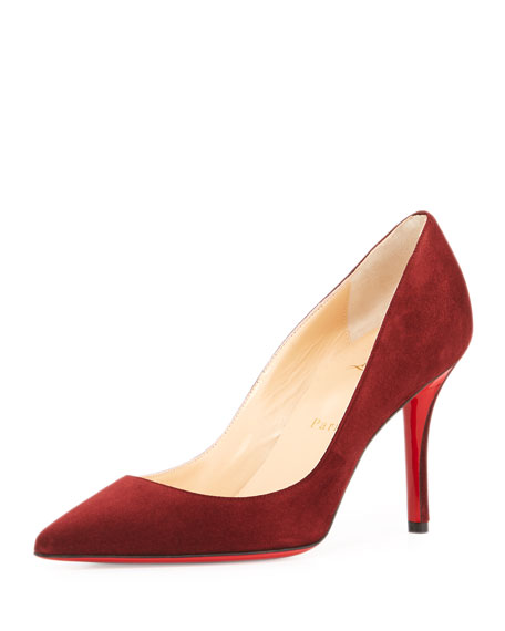0a18c1462868 Christian Louboutin Apostrophy Suede 85mm Red Sole Pump