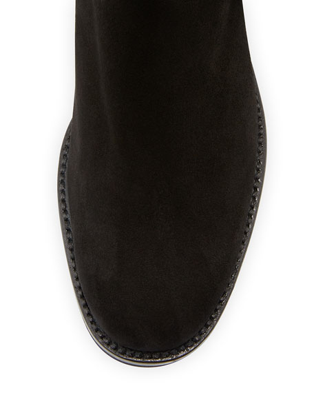 Tall Suede Boots, Black