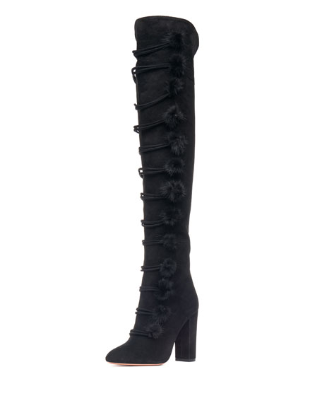 for sale top quality Aquazzura Ulyana Suede Tall Boots sale get to buy buy cheap Inexpensive clearance sast outlet low cost 6ljNxHo