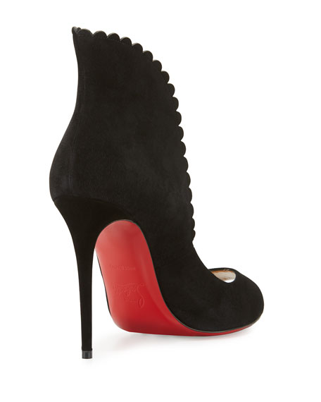 9f9d5b65ac1 Christian Louboutin Pijonina Scalloped 100mm Red Sole Pump