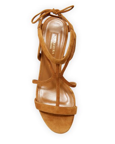 Aquazzura Fiji Strappy Suede Sandal