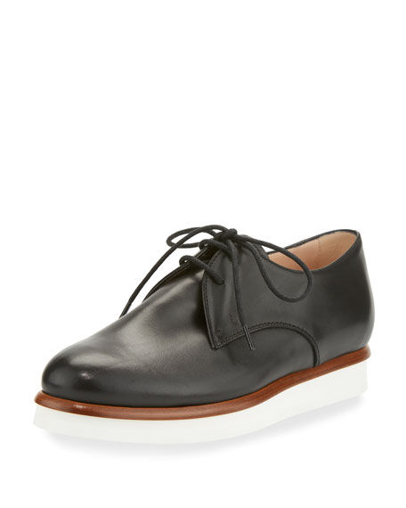 bf17923fe Tod's Leather Lightsole Derby Shoe, Black