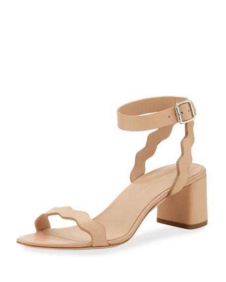 b661c312fd4 Loeffler Randall Emi Scalloped Leather Block-Heel Sandal