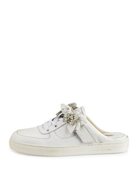 Lilico Jessie Leather Slide Sneaker, White