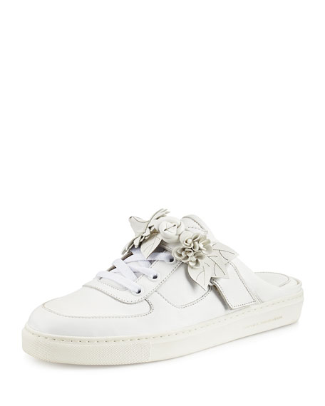 Sophia Webster Lilico Jessie Leather Slide Sneaker, White