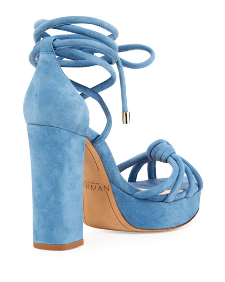 Janelle Knotted Suede 110mm Sandal