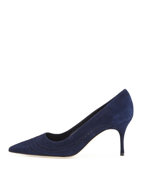 Denna Perforated Suede Pump