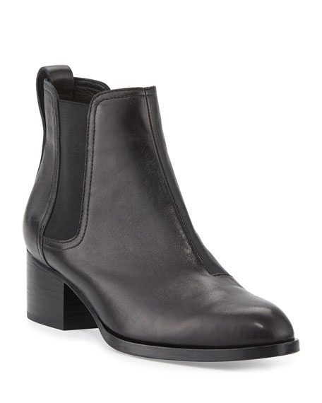 Walker Leather Chelsea Boots - Black Size 10 in 001 Black