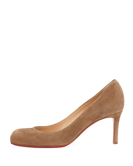Simple Suede 70mm Red Sole Pump