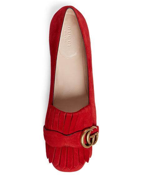 d638e9ecc3770 Gucci Fringe Suede Ballet Flat
