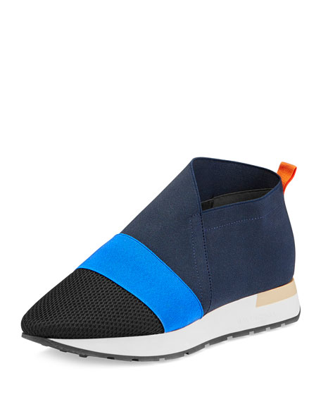 Elastic Slip-On Sneaker, Marine