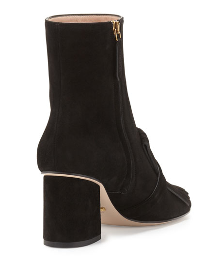 ef5f44d8757 Gucci Marmont Suede 75mm Ankle Boot