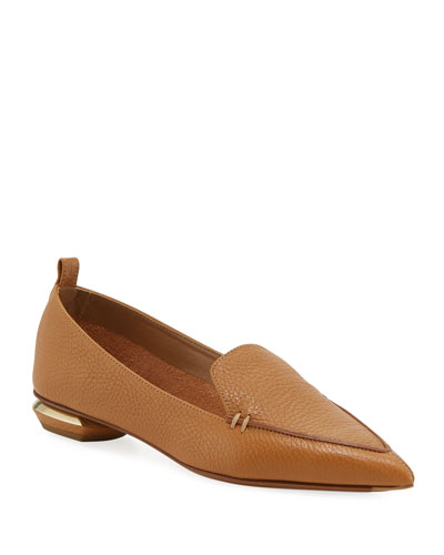cd23aa317d4 Promotion Pebbled Leather Point-Toe Loafer Quick Look. Nicholas Kirkwood