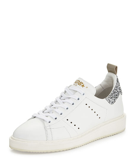 2809f04bd6 Starter Leather Low-Top Sneaker White/Silver