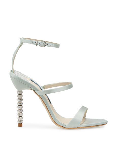 Rosalind Strappy Bridal Sandals, Ice Blue