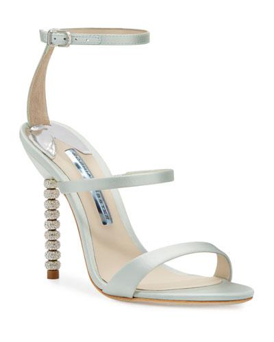 Rosalind Strappy Bridal Sandals  Ice Blue