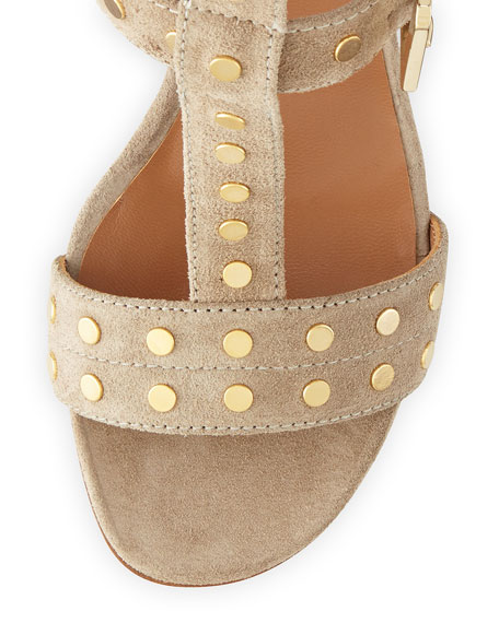 Helie Studded Leather Caged Sandal