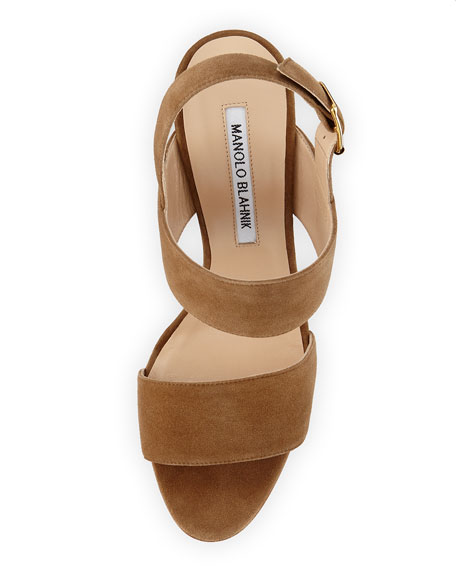 Kahn Suede Double-Band Sandal