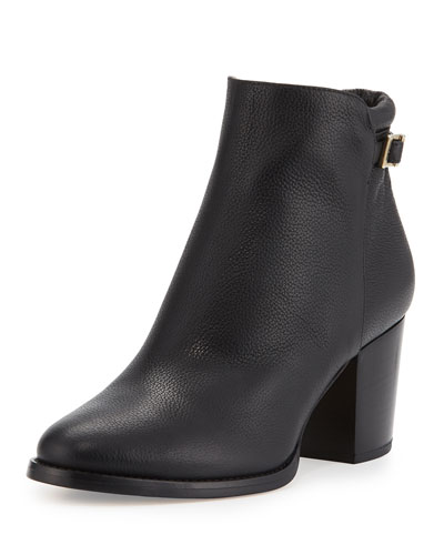 Method Grained Leather Ankle Boot, Black