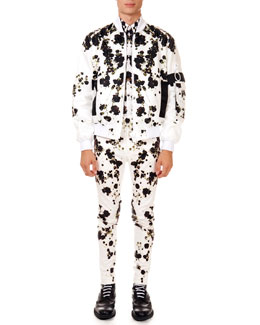 Baby's Breath Printed Bomber Jacket, Shirt & Slim Trousers