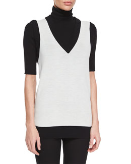 Audria Preen Reversible Sweater Vest & Leenda Turtleneck Sweater