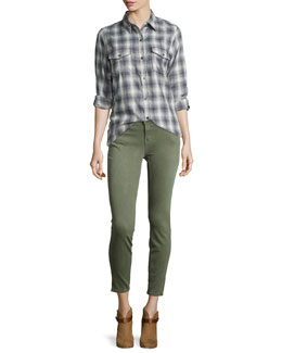 The Perfect Shirt Without Epaulets & The Stiletto Cropped Skinny Jeans