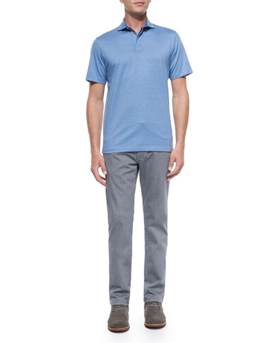 Skinny-Stripe Polo Shirt & Slim-Fit Denim Jeans