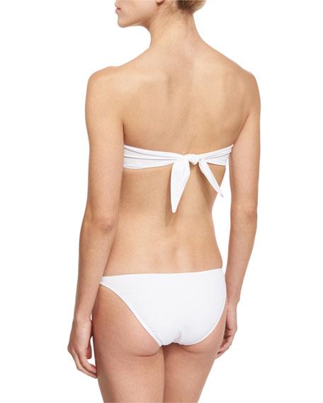 Gathered Halter Swim Top