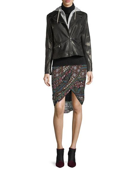 Mica Leather Biker Jacket
