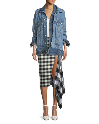 Doubled-Layer Oversize Denim Jacket and Matching Items