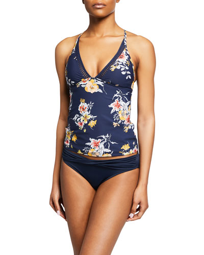 Midsummer Printed Tankini Swim Top and Matching Items