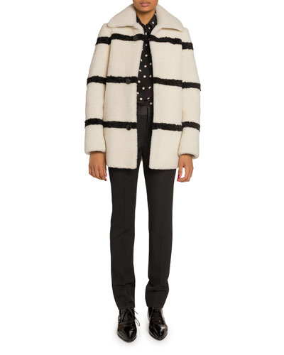 Striped Shearling Coat and Matching Items