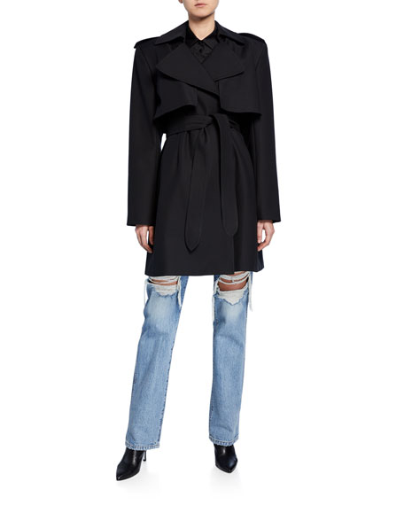 Dani Wrapped Cotton Trench Coat