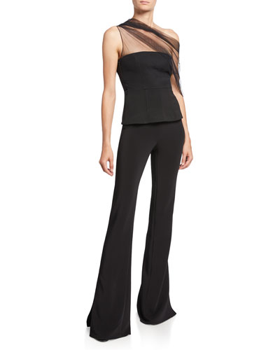 High-Waist Slightly Flared Pants and Matching Items
